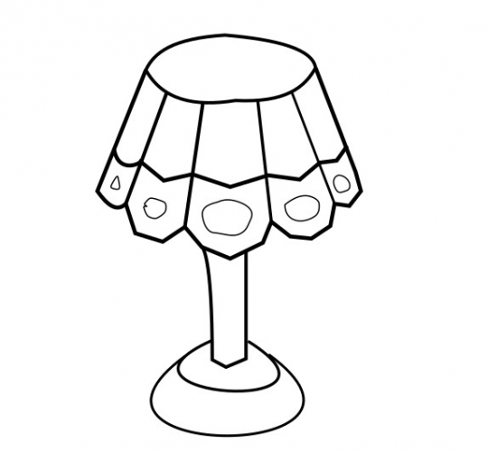 Lamp SVG image - Lamp Art line drawing