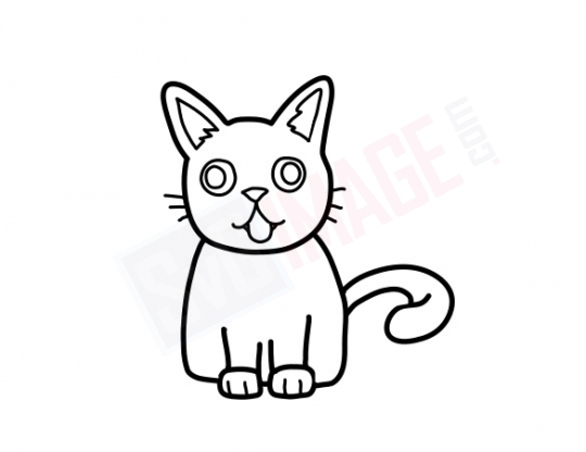 Cat SVG image - Cat Art line Vector drawing Illustration