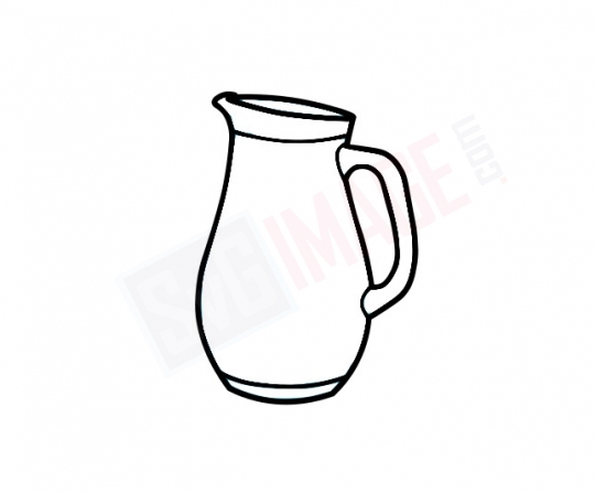 Jug SVG image - Jug Art line Vector drawing Illustration