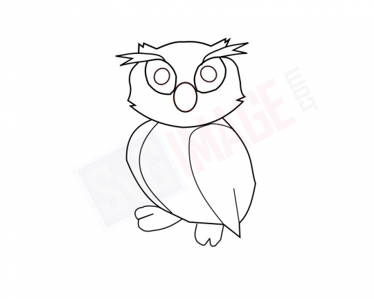 Owl SVG image - Owl Art line Vector drawing Illustration