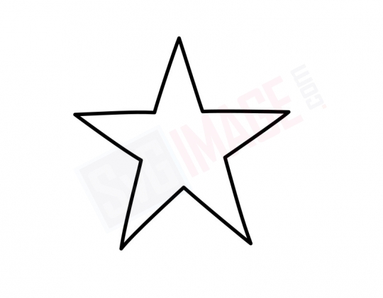 Star SVG image - Star Art line Vector drawing Illustration