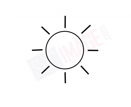 Sun SVG image - Sun Art line Vector drawing Illustration