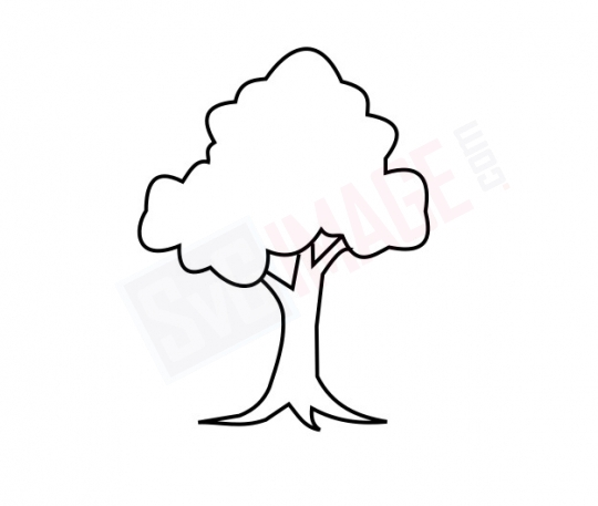Tree SVG image - Tree Art line Vector drawing Illustration
