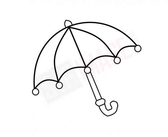 Umbrella SVG image - Umbrella Art line Vector drawing Illustration