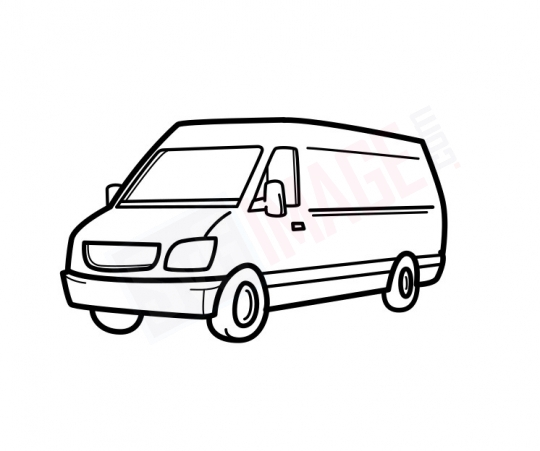 Van SVG image - Van Art line Vector drawing Illustration