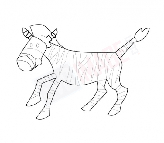 Zebra SVG image - Zebra Art line Vector drawing Illustration